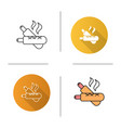 french hot dogs icon vector image vector image