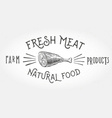 Fresh meat design element vector image vector image