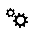 gear icon in flat style wheel symbol vector image vector image
