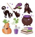 halloween collection hand drawn cartoon clip art vector image vector image