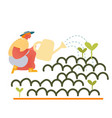 happy girl gardening at home or in greenhouse vector image vector image