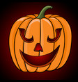 happy halloween pumpkin hand drawn sketch vector image