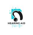 hearing aid inspiration logo design vector image vector image