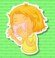 Illness vector image