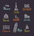Italian symbols vector image vector image