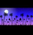 jungle panorama silhouette vector image