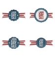 Labor Day realistic greeting Emblems Set vector image