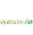 leaves summer border frame bottom horizontal vector image vector image
