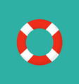 life preserver buoy ring help icon lifebuoy saver vector image