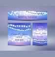 lights bokeh and garlands wedding cards vector image vector image