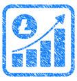 litecoin growing trend framed stamp vector image vector image