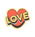 Love short message retro speech bubble in the