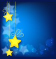 magic shiny stars abstract background vector image vector image