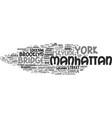 manhattan word cloud concept