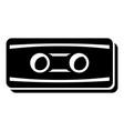 plastic button icon simple black style vector image vector image