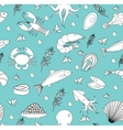 Sea life seamless pattern Underwater endless vector image vector image