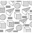 seamless pattern with geometric 3d shapes in vector image