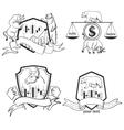 set finance forex labels logo emblems and vector image
