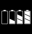set of battery charge level indicator