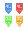 Set of Flat Best Choice Labels vector image vector image