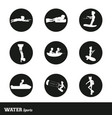 set of nine water sports vector image vector image