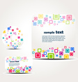 stylish colorful squares vector image vector image