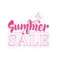 summer sale banner template design with text vector image vector image