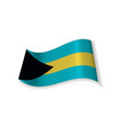 the flag of the bahamas vector image vector image