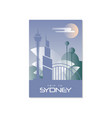 trip to sydney travel poster template touristic vector image