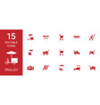 trolley icons vector image vector image