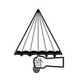 umbrella weather symbol vector image vector image