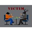 victim vector image vector image