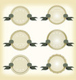 vintage badges banners and ribbons vector image vector image
