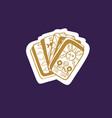 vintage tarot deck hand drawn vector image vector image