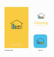 warehouse company logo app icon and splash page vector image