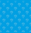 wedding bouquet pattern seamless blue vector image vector image