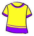 yellow girl shirt on white background vector image vector image