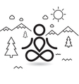 Yoga at mountains and trees vector image vector image