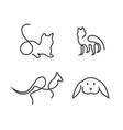 animal line logo vector image
