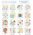 infographics mini concept business finance vector image
