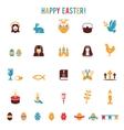 Easter icons-silhouettes vector image