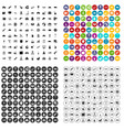 100 lorry icons set variant vector image vector image
