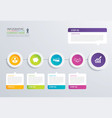 5 step circle timeline infographic options