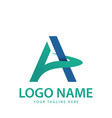 a lettering logo vector image vector image