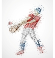 Abstract baseball player vector image vector image