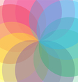 Abstract flower geometrical background 01 vector image vector image