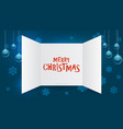 advent calendar window christmas present open vector image vector image