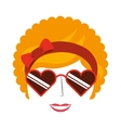 afro woman isolated icon design vector image vector image