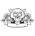animal head - jaguar - logo icon vector image vector image