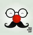 april fool clown glasses and red nose vector image vector image